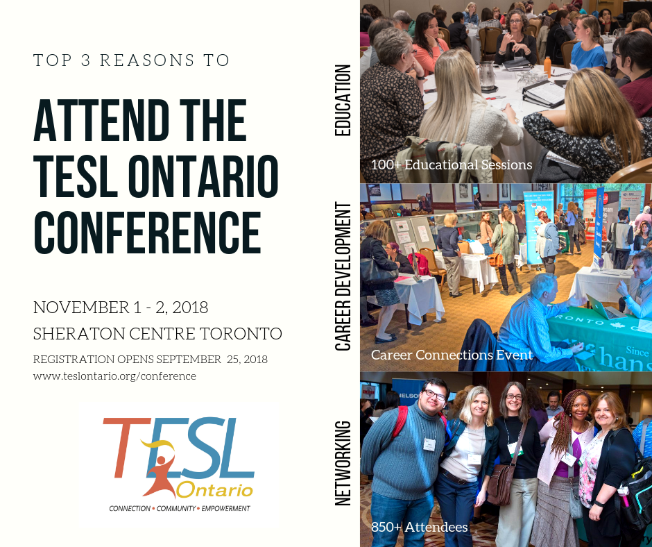 TESL Ontario 2018 Conference Banner