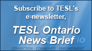 Subscribe to TESL's e-newsletter